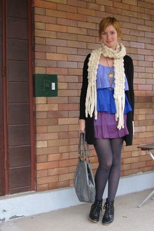 ModClothcom dress - scarf - ModClothcom tights - Helena de Natalio purse - Jeffr