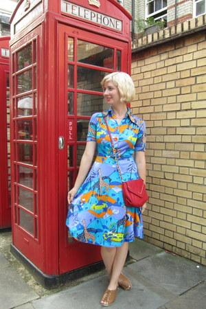 vintage dress - magnes sisters bag - Worishofer sandals