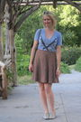Blue-mnkr-shirt-brown-thrifted-skirt-silver-modclothcom-shoes