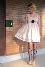 Pink-modclothcom-dress-black-modclothcom-tights-beige-jeffrey-campbell-shoes