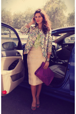 beige Elie Tahari skirt - tan Susanna Vesna blazer