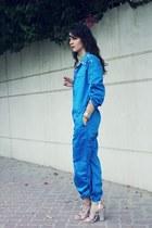 blue Susanna Vesna Overall bodysuit - silver Zara heels