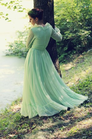 lime green vintage dress vintage dress