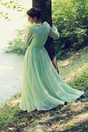 lime green vintage dress vintage dress