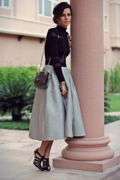 black bodysuit mesh Choies bodysuit
