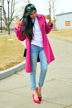 hot pink Express coat