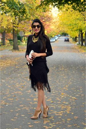 black fringe Rue 21 skirt
