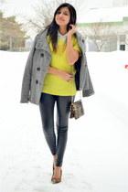 yellow Gap sweater