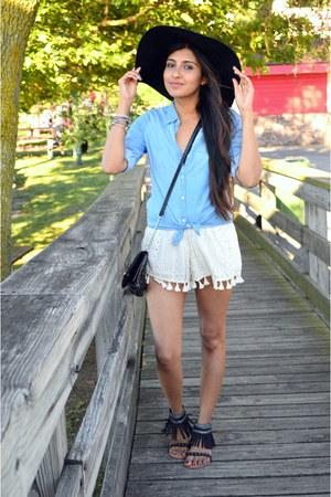 ivory tassel and lace lulus shorts