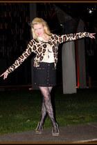 tawny H&M cardigan - black Simons skirt