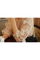 neutral vintage blouse