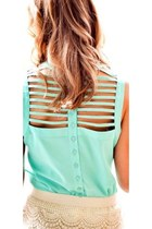aquamarine Wet Seal blouse