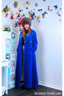 Blue-velvet-thrifted-vintage-coat