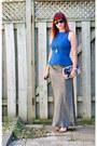 Silver-handmade-bag-silver-vince-camuto-sandals-silver-skirt-blue-zara-top