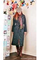 navy denim thrifted coat