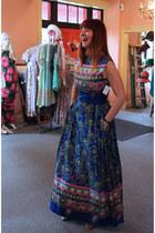 1970s maxi vintage dress