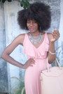 Light-pink-rachel-pally-dress-beige-gregory-sylvia-bag-silver-zara-necklace