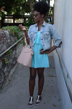 beige Gregory Sylvia bag - light blue single dress dress