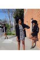 black Nila Anthony bag - white H&M dress - black thrifted sweater