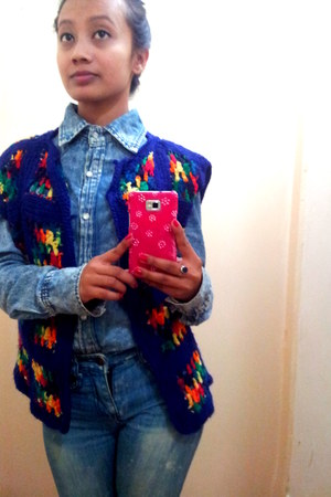 denim jeans - wool Milano collections cardigan
