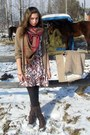 Dark-brown-new-yorker-boots-white-topshop-dress-camel-zara-coat-light-brow