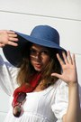White-second-hand-dress-navy-reserved-hat-red-vintage-scarf-brown-straw-vi