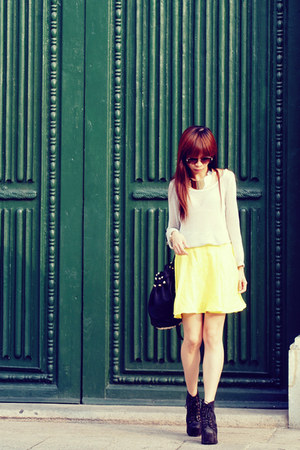 VANCL blouse - Jeffrey Campbell boots - Alexander Wang bag - H&M skirt