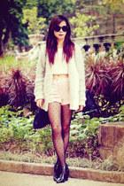 black Alexander Wang bag - light pink velvet Topshop shorts