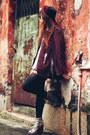 Aldo-boots-american-apparel-scarf-american-apparel-blouse