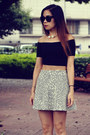 Black-american-apparel-top-topshop-skirt-nike-sneakers