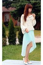 American Apparel jumper - Zara skirt - Zara heels