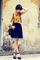 vintage blouse - Zara heels