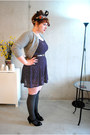 Wool-socks-homemade-dress-vintage-wool-petite-sophisticate-sweater