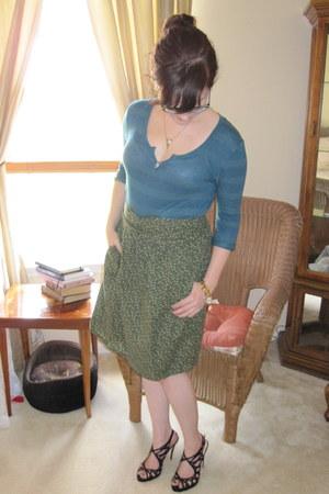 olive green homemade skirt - black Boutique 9 heels