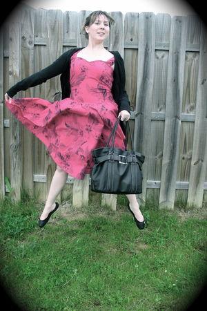 black delias cardigan - pink Vintage Hawaiian Dress dress - black Avon Butler Ba