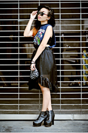 black skirt China skirt - navy navyblue DIY TOP top