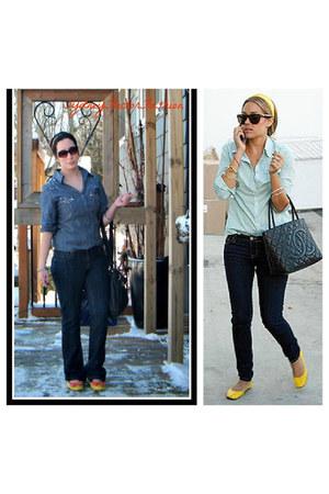 blue dark wash Bluenotes jeans - blue chambray shirt winners shirt