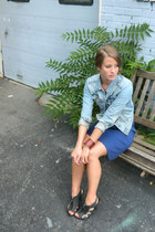 H&M jacket - J Crew dress - unearthed bracelet - BCBG sandals