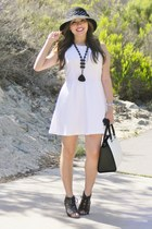 white H&M dress - Michael Kors purse