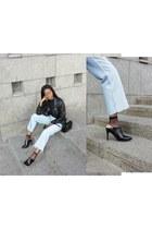 sky blue denim Zara jeans