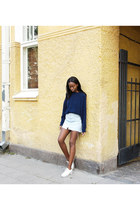navy knit Sweater sweater