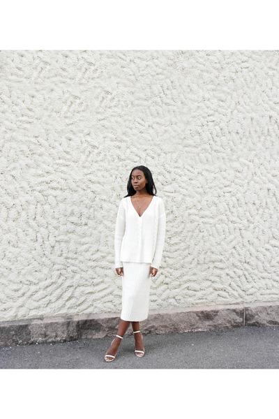 white asos sweater