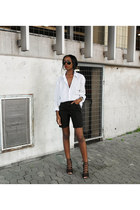 black denim vintage shorts