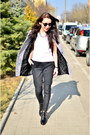 Heather-gray-sheinside-coat-black-front-row-shop-pants-white-h-m-t-shirt