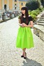Black-choies-top-lime-green-choies-skirt