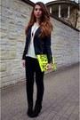 Black-zara-boots-black-cubus-jacket-ivory-h-m-shirt