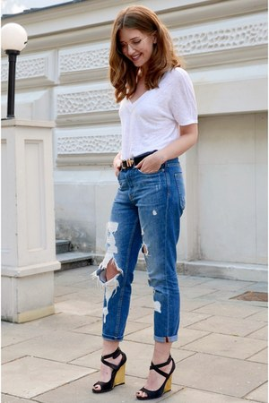 sky blue pull&bear jeans