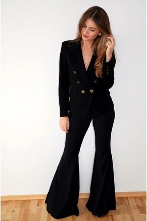 black Mango blazer - black Zara pants