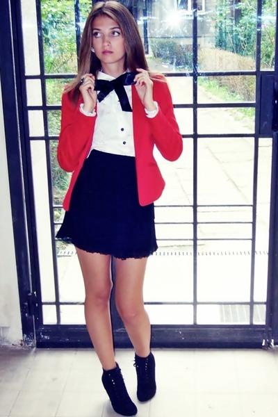 H&M blazer - H&M shirt - Zara skirt