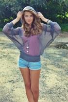 Cubus blouse - Oasis shorts - Cubus top - H&M necklace